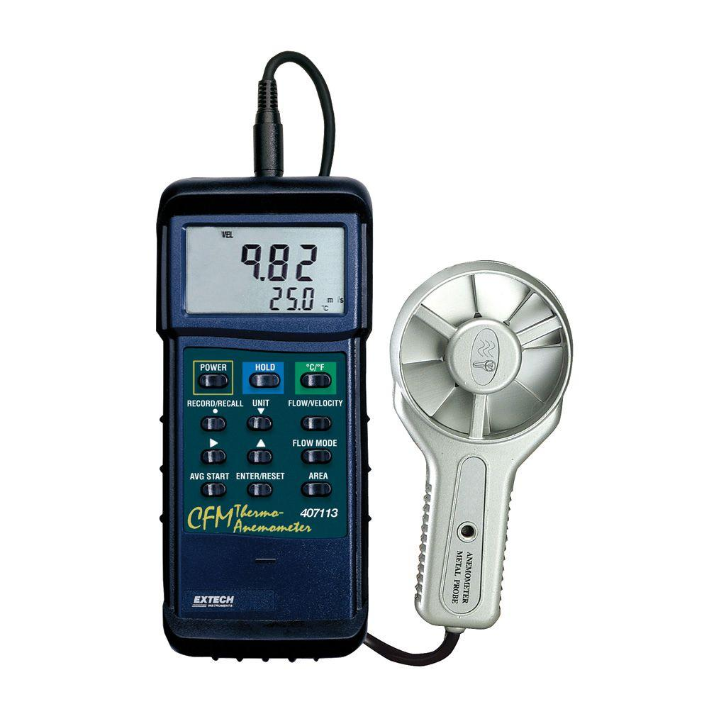 High Temperature CFM Metal Vane Anemometer
